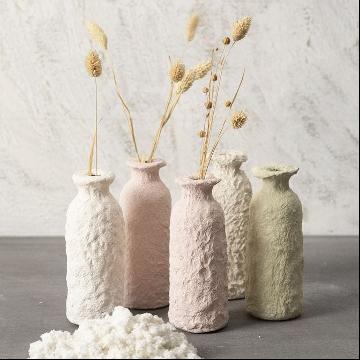 Paper Maché bottle vase
