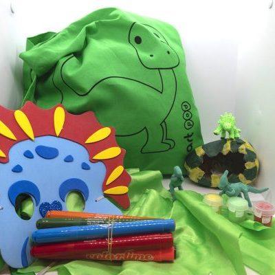 Dinosaur Art Bag
