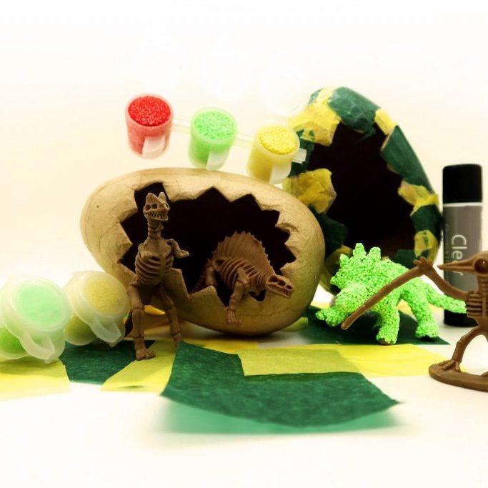 Dinosaur Skeleton + Egg