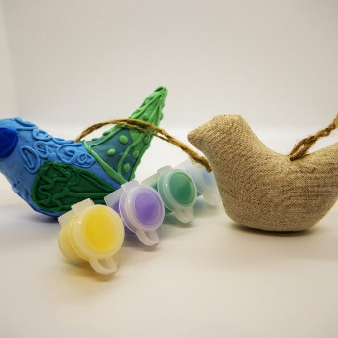 Fabric & Clay Bird Kit