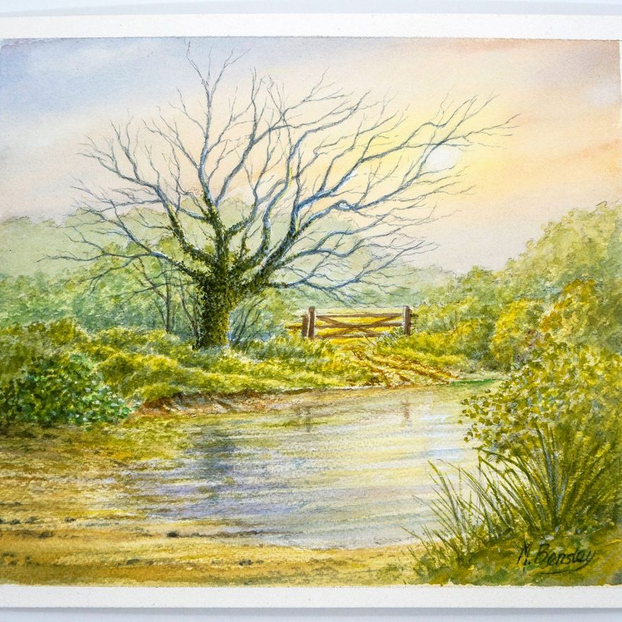 Gate watercolour painting