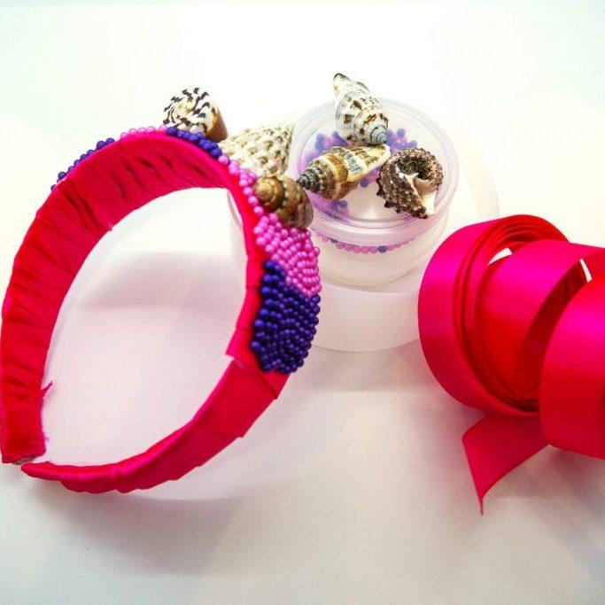 Mermaid hairbandclay + ribbon kit