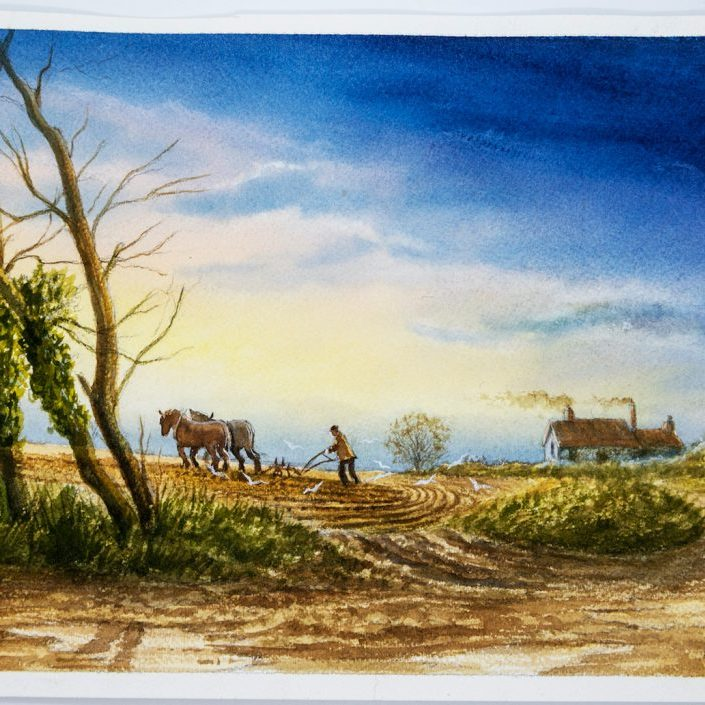 Ploughing Norfolk Mick Bensley