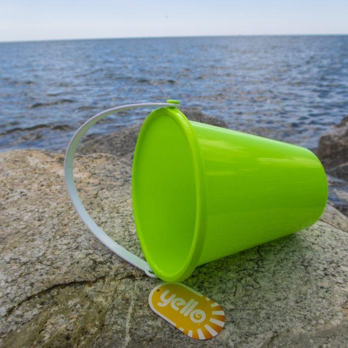 Small plain plastic bucket green