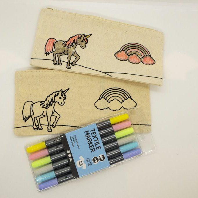 Unicorn Pencil Case Kit