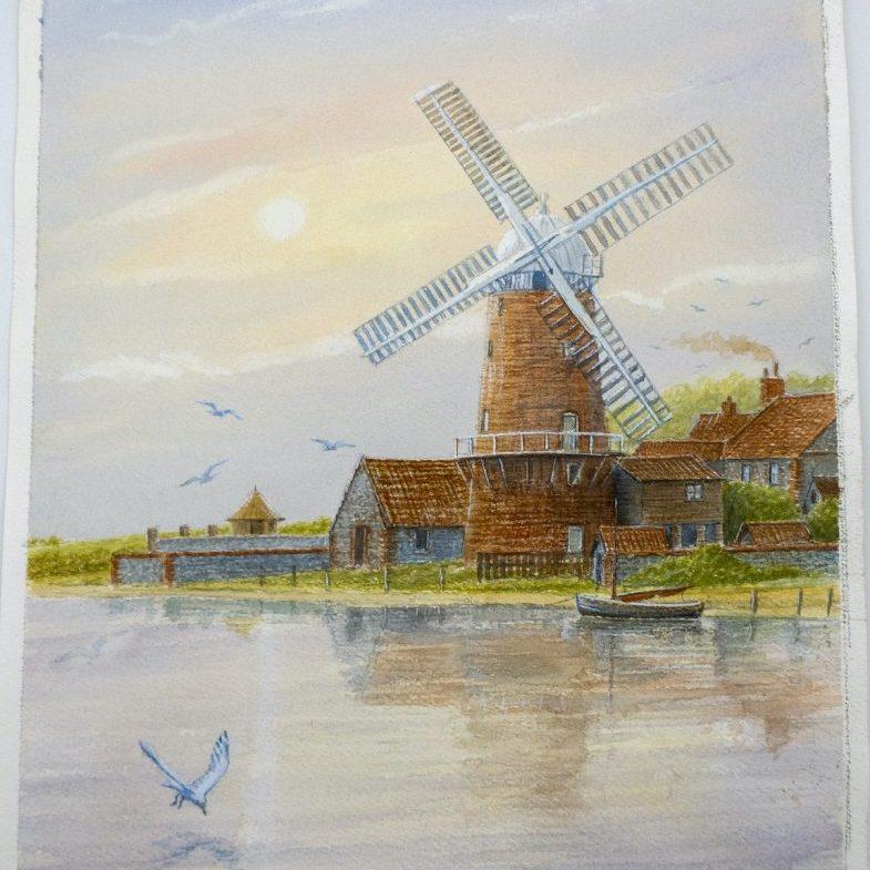 Windmill painting - Mick Bensley