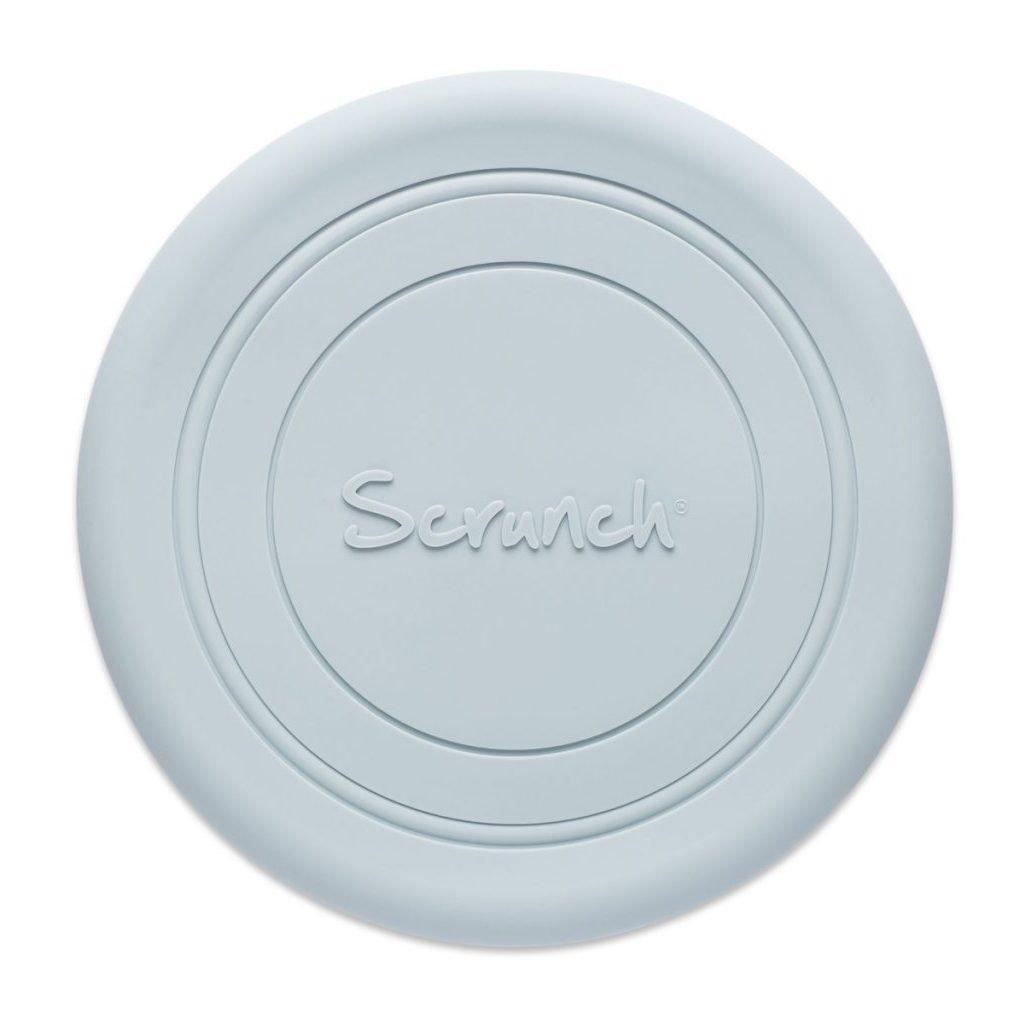 light grey scrunch frisbee